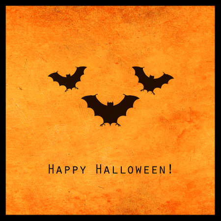 Minimal halloween design with scary bats silhouette. Scary greeting card and invitation party poster. Modern concept.