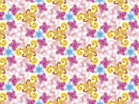 Mandala amarilla, rosada y azul Foto de archivo - 68650626