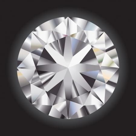 diamante: Grande diamante sfumatura su sfondo nero