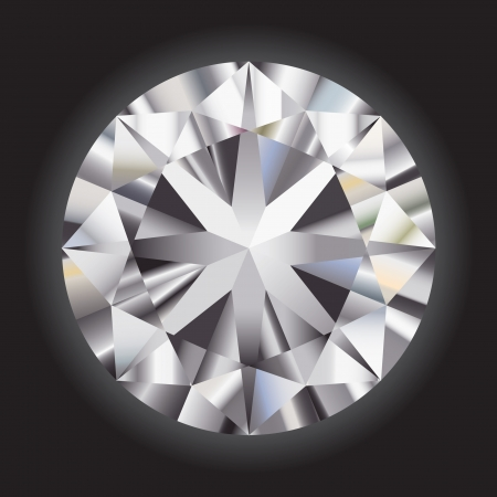 Great gradient diamond on a black background Vector