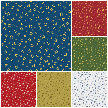 Christmas Seamless Pattern with Stars Vector