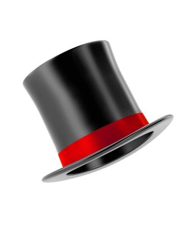 실린더: 흰색 배경에 고립 된 마법의 모자
