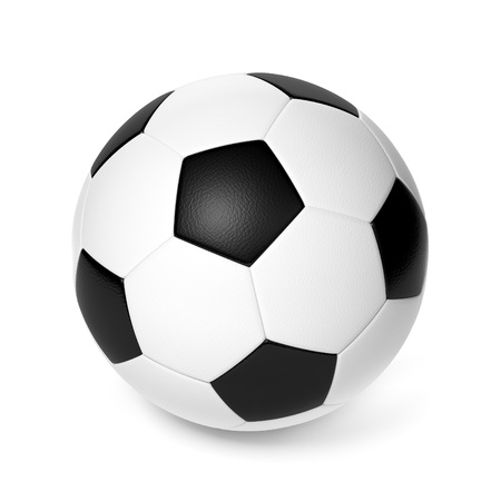 foot ball: Soccer ball isolated on white background