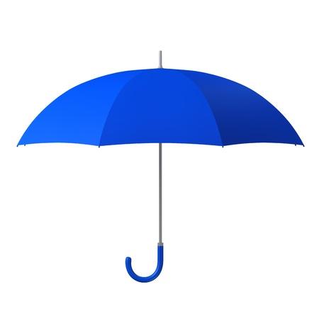 steel blue: blue umbrella isolated on white background