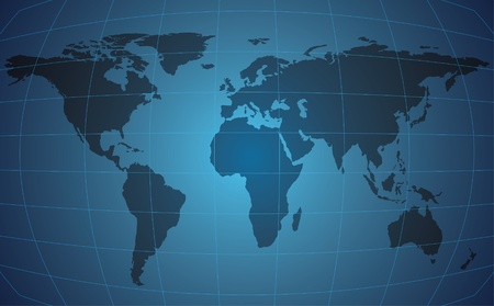global background: World map on blue background