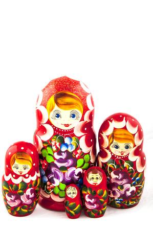 matrioshka: Russian traditional toys Stock Photo