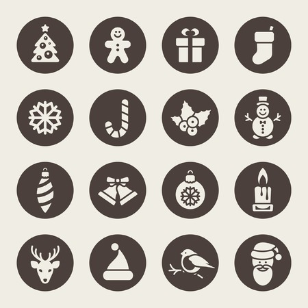 Christmas icons  Vectores