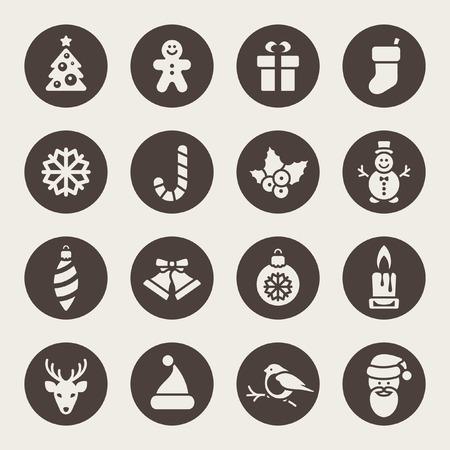 diciembre: Navidad iconos