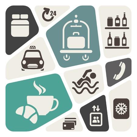 minibar: Hotel services background