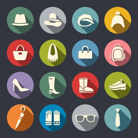 Accessories icon set  Vector