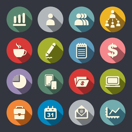 people icon: Business theme flat icons