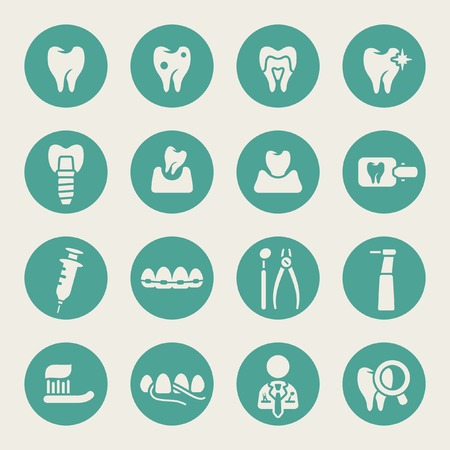 implants: Dental icon set