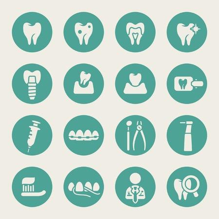 Icône dentaire ensemble