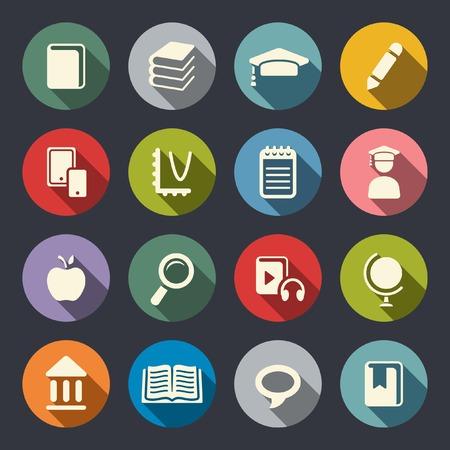 e learning icon: Education theme flat icons