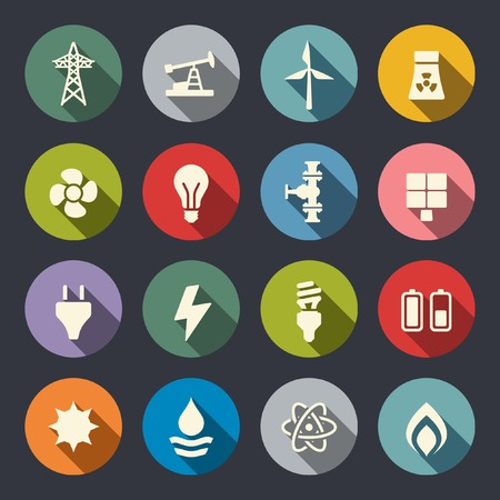 energy supply: Energy icon set