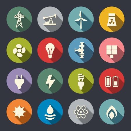 Icono Energía conjunto Foto de archivo - 28120259