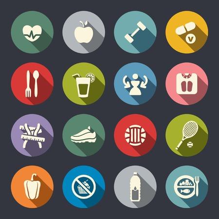 measuring spoon: Fitness icon set