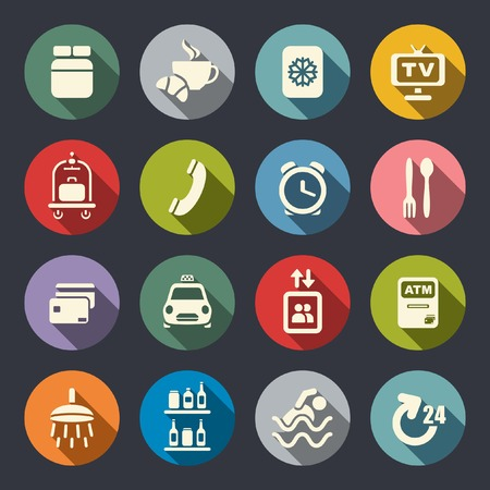 keycard: Hotel services icons