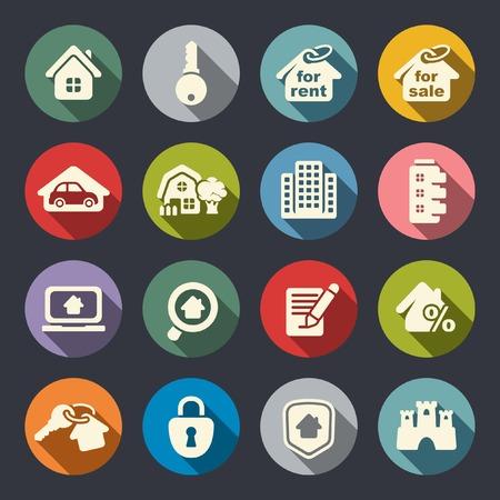 Immobilien-Icon-Set Standard-Bild - 28120328