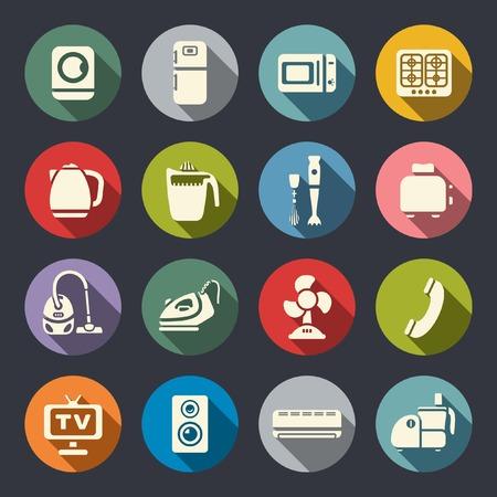 House appliances icon set  Vector