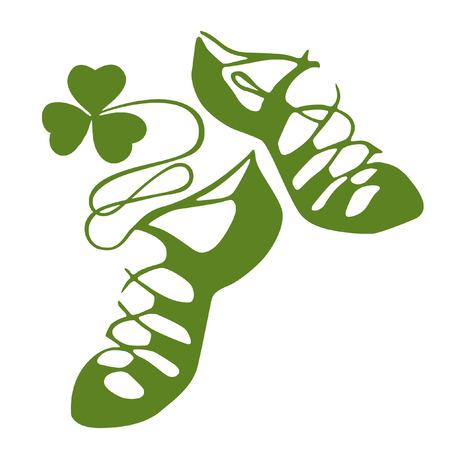 Zapatos de la danza del irlandés Ilustración de vector