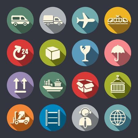 customs: Logistics icon set
