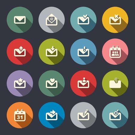 unread: Email icon set