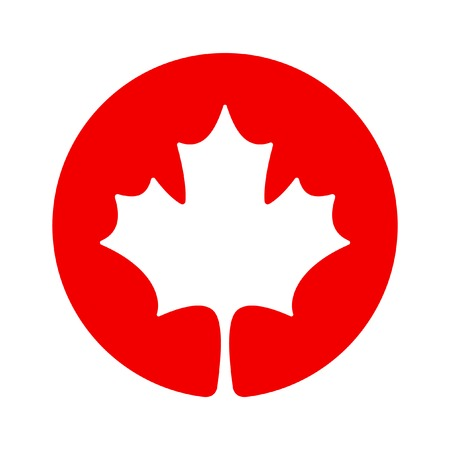 canadian flag: Canada maple icon
