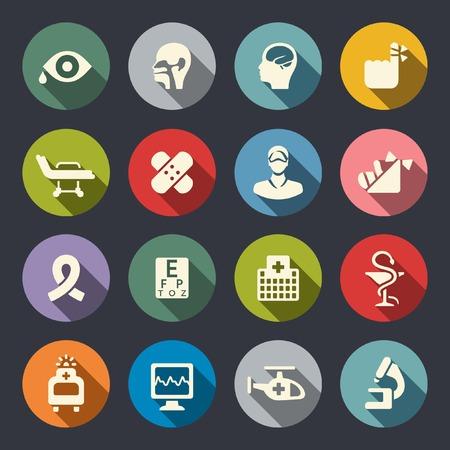 ent: Medical icons Illustration