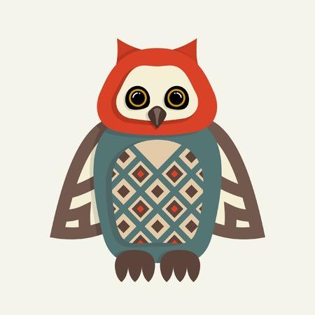 indie: Ilustraci�n vectorial Owl