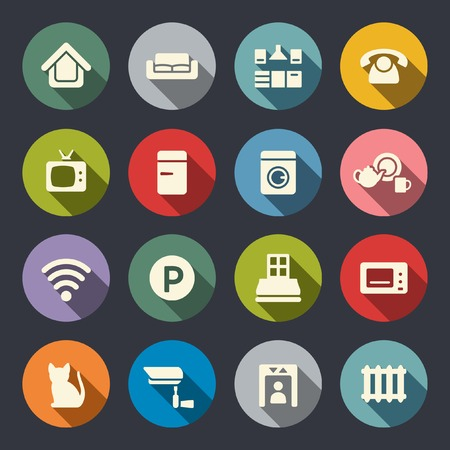 Home rental services icon set  Vector