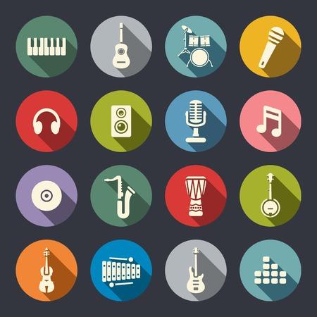 Icono de la música conjunto Ilustración de vector