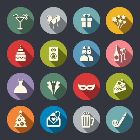 cake balls: Party icons Illustration