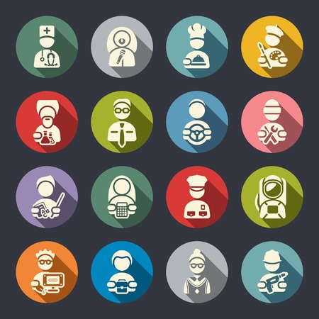 jobs: Jobs icon set  Illustration