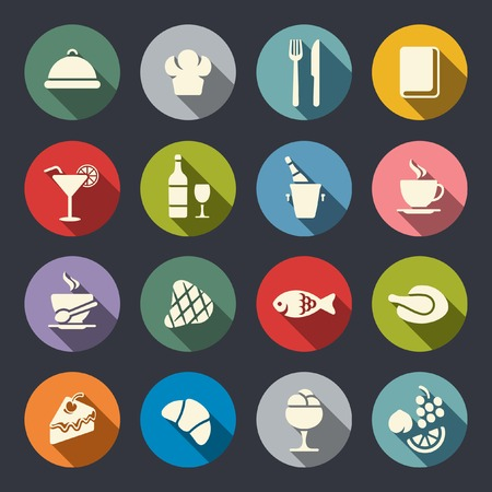take out food: Restaurant icon set