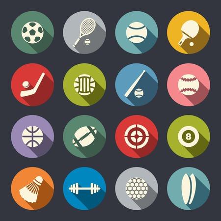 Conjunto de ícones do esporte Foto de archivo - 28128331