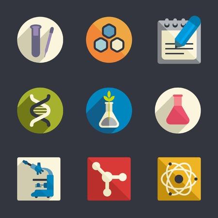 neutrons: Science theme flat icons