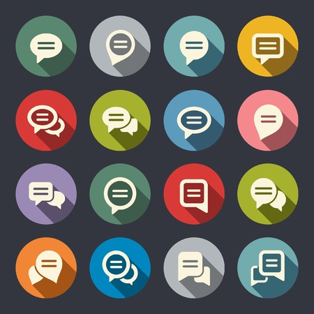 conversation icon: Speech bubble icon set  Illustration