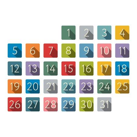 tear off: Calendar vector icons Illustration
