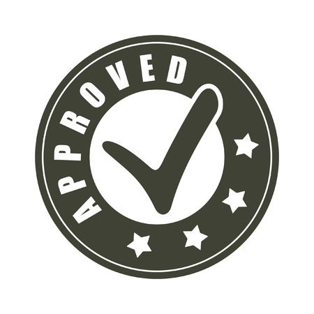 approved stamp: Approvato vettore timbro