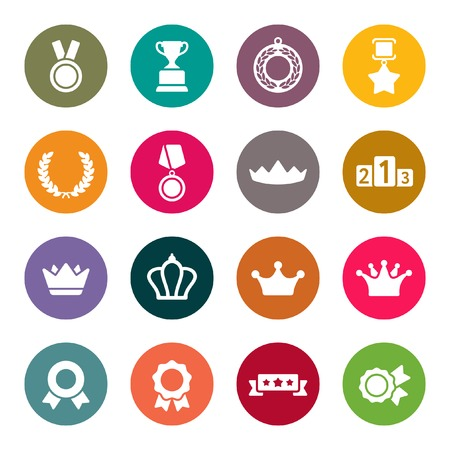 gratitude: Awards icons set
