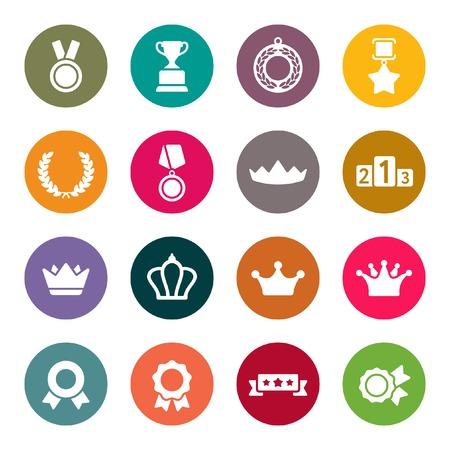 bronze medal: Awards icons set