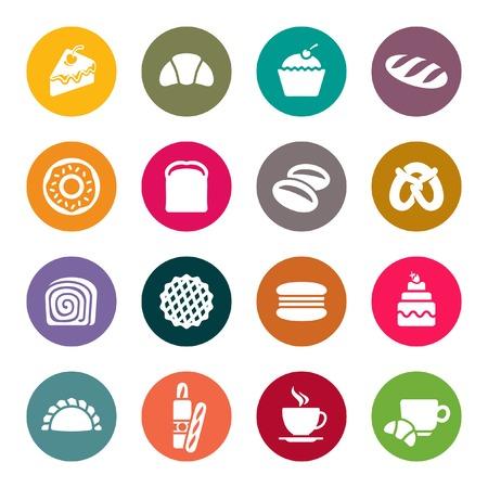 thresh grain: Bakery icon set  Illustration