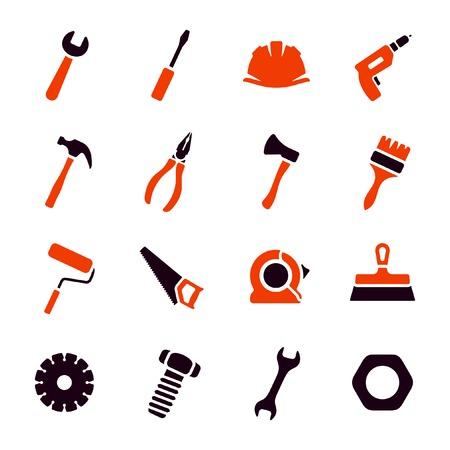 nipper: Work tools icon set  Illustration