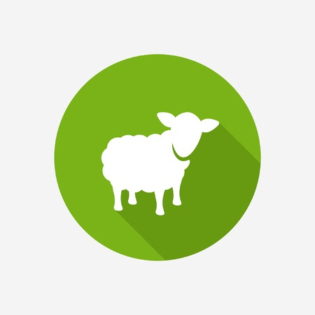 pasen schaap: Schapen pictogram Stock Illustratie