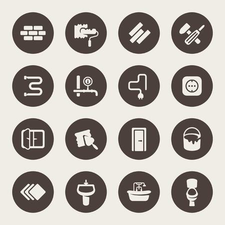 Reparación icon set