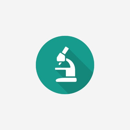 Microscope icon for science and medical concept