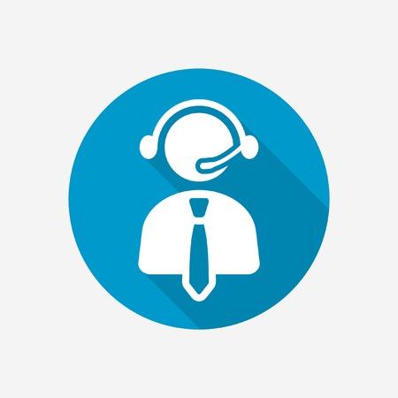 Call center operator icon  Vector