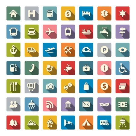 travel icon: Reizen icon set