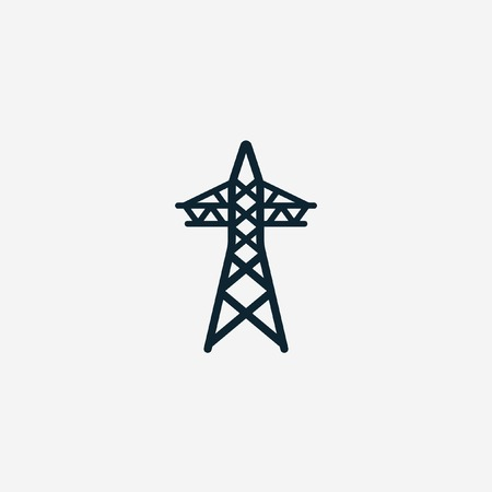high voltage sign: Electricity icon Illustration